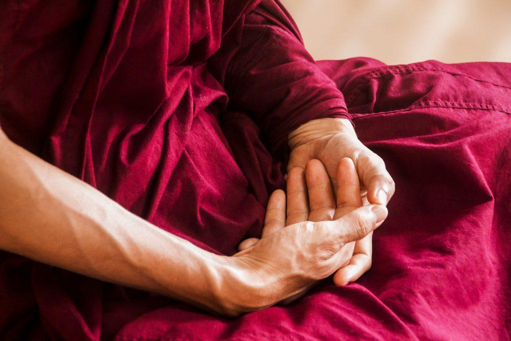 Buddha Meditation Hände