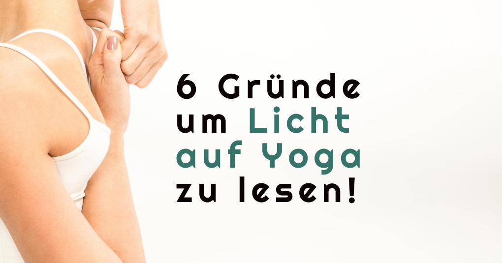 Licht auf Yoga