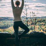 Yoga Übung Baum