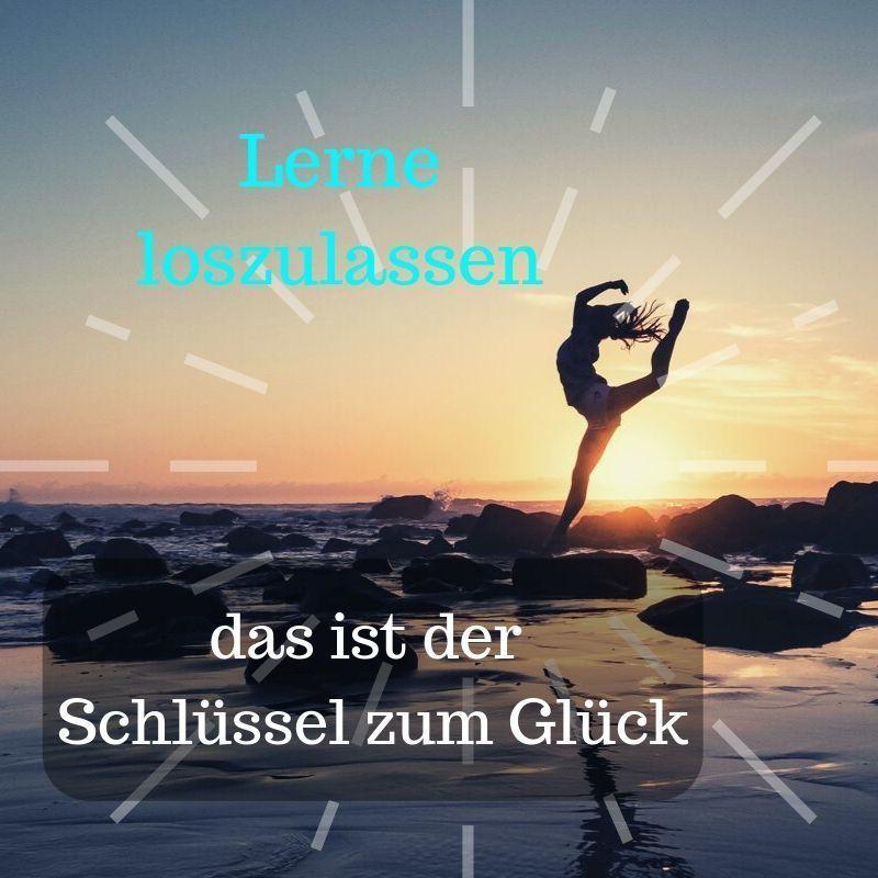 Yoga Zitat loslassen und Glück