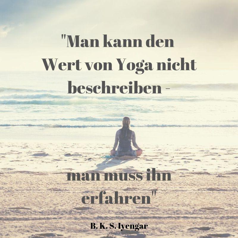 Yoga Zitat Wert Yoga