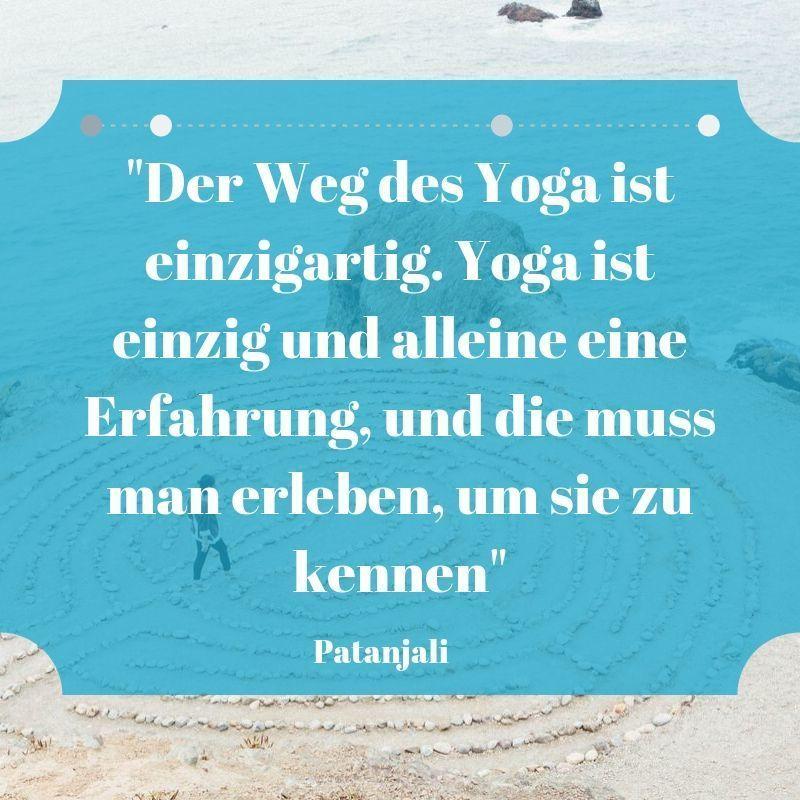 Yoga Zitat Patanjali Erfahrung