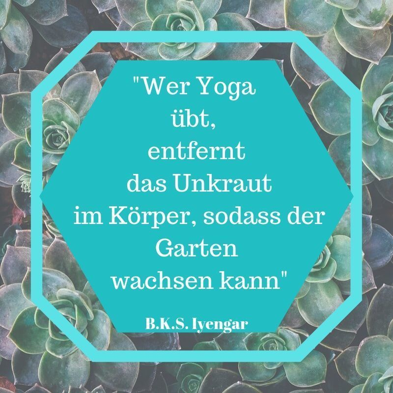 Yoga Sprüche Iyengar Yoga üben