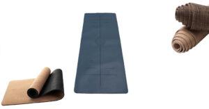 Yogamatte mit Markierung
